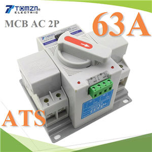 2P ATS àºÃ¡à¡ÍÃìÊÇÔ·ªì 2 ·Ò§ AC ÊÅѺä¿Íѵâ¹ÁÑµÔ Automatic transfer switch 63A2P 63A 230V MCB type Dual Power Automatic transfer switch ATS