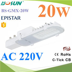 20W LED ไฟถนน แสงสีขาว AC 220VLED Street Light 20W waterproof ip66  AC 220V