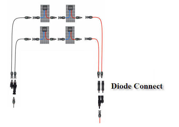 Схема подключения диода шоттки в солнечных панелях