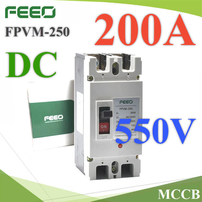 Solar DC Moduled case circuit breaker 550 Voltage DC  200A FEEO FPVM