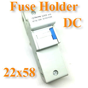 ¡Åèͧ¿ÔÇÊì DC ¢¹Ò´ 22x58mm ÊÓËÃѺẵàµÍÃÕè 48VFuse Holder DC 22x58mm 1000V for Battery 48V