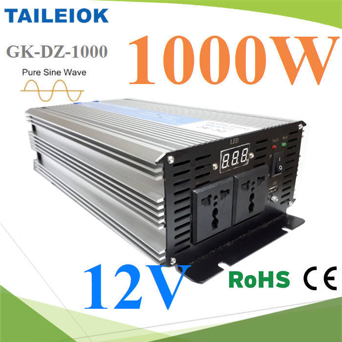 1000W Pure Sine Wave Inverter 12V DC to AC 220V