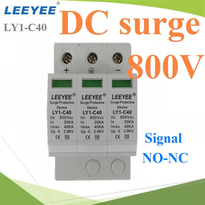 DC Solar Surge LEEYEE 800V Signal NO-NC ÍØ»¡Ã³ì»éͧ¡Ñ¹¿éÒ¼èÒ ä¿¡ÃЪҡDC Solar Surge 800V  with remote signal  PV system surge protection device
