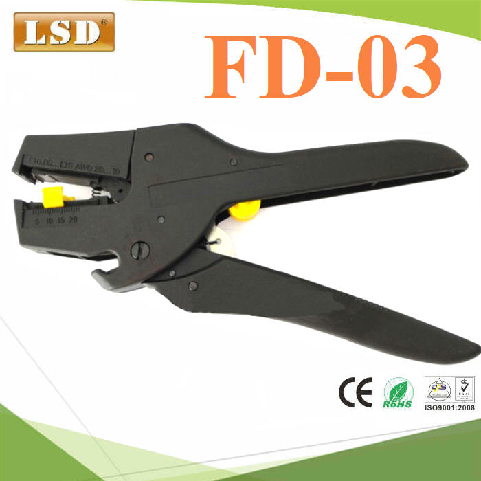 self-adjusting insulation wire stripper range 0.08-6mm2 with high quality mini cable wire stripper cutter
