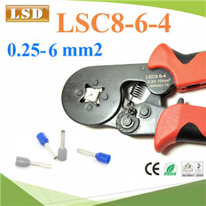 ¤ÕÁÂéÓËÒ§»ÅÒ ¤ÍÃì·àÍç¹´ì ¢¹Ò´ 0.25-6 mm² AWG 24-10LSC8-6-4 self-adjusting crimping plier for press cable ferrules 0.25-6mm2,cable end sleeve crimping