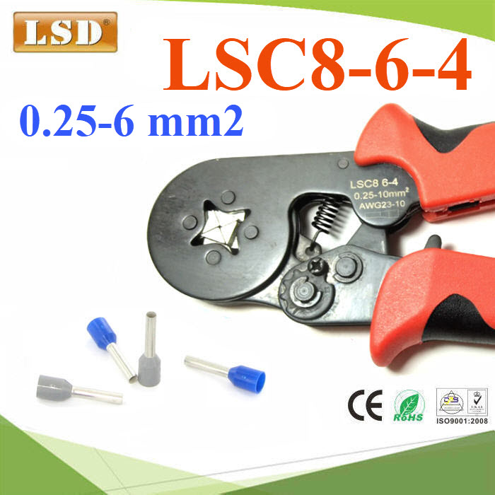LSC8-6-4 ¤ÕÁÂéÓËÒ§»ÅÒ ¤ÍÃì·àÍç¹´ì ÊÕèàËÅÕèÂÁ ¢¹Ò´ 0.25-6 mm² AWG 24-10LSC8-6-4 self-adjusting crimping plier for press cable ferrules 0.25-6mm2,cable end sleeve crimping