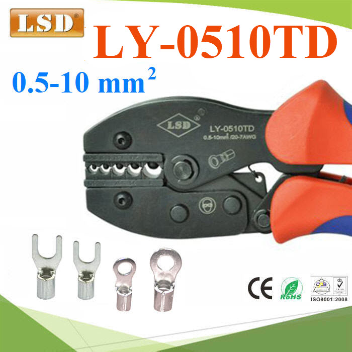 LY-0510TD High quality Ratchet hand Crimping tool for non-insulated terminals, cable lug connector