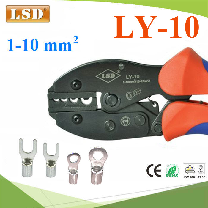 LY-10 hand crimping tools for non-insulated cable links cable sleeves crimping tools molex crimping