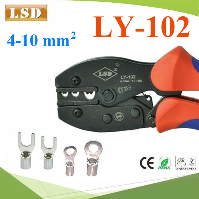 LY-102 for non-insulated cable links Hand Crimping Tool 4.0-10mm2