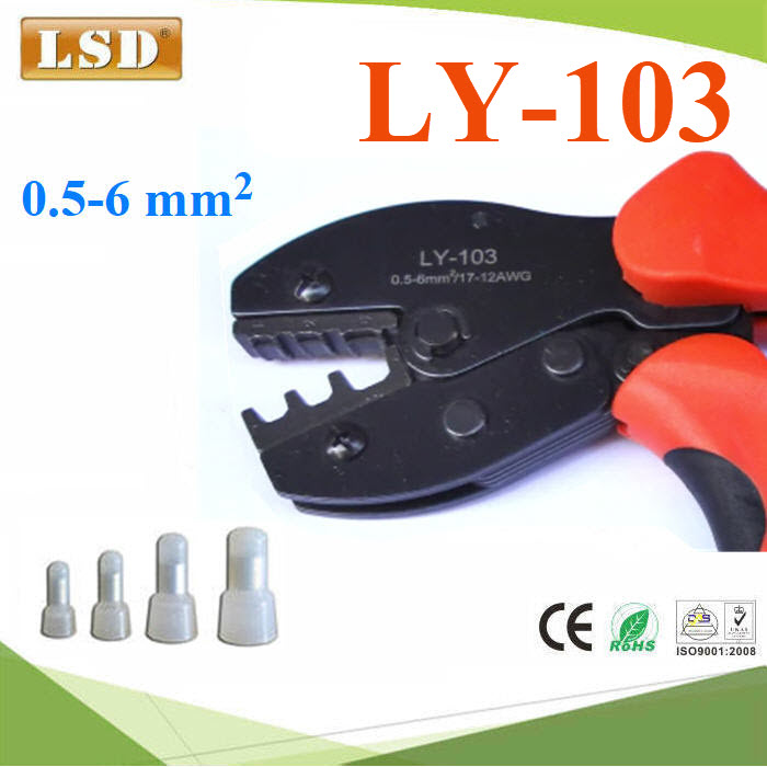 LY-103 crimping pliers for insulated closed terminal crimping
