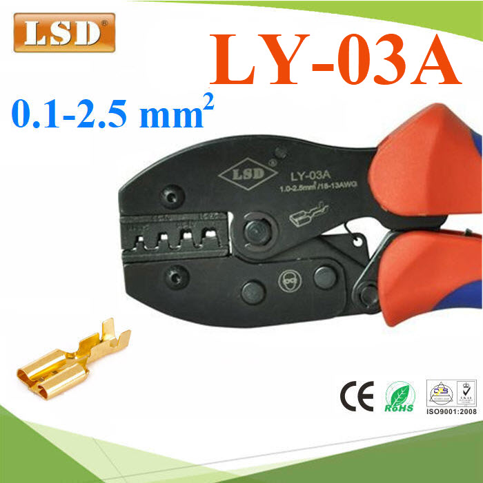 ¤ÕÁÂéÓËÒ§»ÅÒ LSD ÂéÓËÑÇÊÒÂä¿ áººäÁèÁÕ©¹Ç¹ ¢¹Ò´ 0.1-2.5mm²LY-03A Ratchet hand crimping tool for non-insulated open plug-type connectors 0.1-2.5mm2 crimping pliers