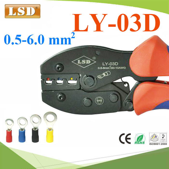 ¤ÕÁÂéÓËÒ§»ÅÒ LSD ÂéÓËÑÇÊÒÂä¿ ËÒ§»ÅÒẺÁÕ©¹Ç¹ ¢¹Ò´ 0.5-6mm² LY-03D Ratchet hand  terminal crimping tool for insulated connector  0.5-6mm2 crimping