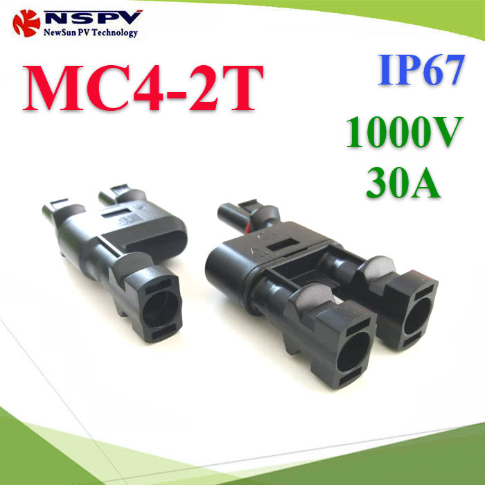 ¢é͵èÍÊÒÂä¿ MC4 µèÍ¢¹Ò¹ 2 àÊé¹ÃÇÁà»ç¹ 1 àÊé¹PV Solar connector MC4 2 to 1 Branch Connector