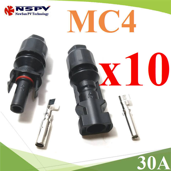 High quality TUV 30A 1000V male and female solar connector MC4 10 pairs