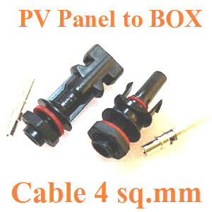 PV panel ¢é͵èÍà¢éÒ¡Åèͧ IP67  ÊÓËÃѺÊÒÂä¿ 4 sq.mm.Panel connector IP67 PV4.0  for Cable 4 sq.mm.