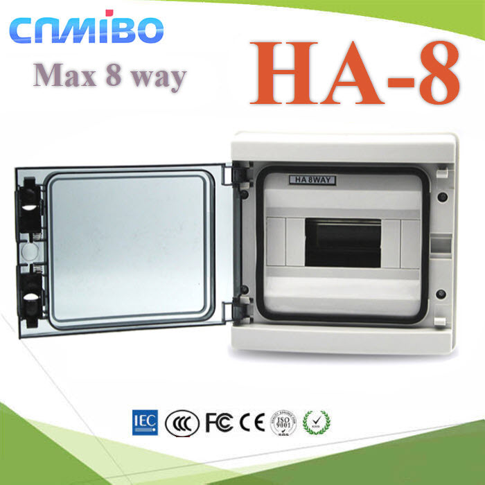 ¡ÅèͧàºÃ¤à¡ÍÃì¾ÅÒʵԡ ¤Ø³ÀÒ¾ÊÙ§ HA 8 ªèͧ Ẻ¡Ñ¹¹éÓ IP65High quality HA Series 8 ways electrical power distribution box waterproof IP65