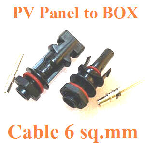 PV panel ¢é͵èÍà¢éÒ¡Åèͧ IP67 ÊÓËÃѺÊÒÂä¿ 6 sq.mm.IP67 PV4.0 Panel connector  for Cable 6 sq.mm.