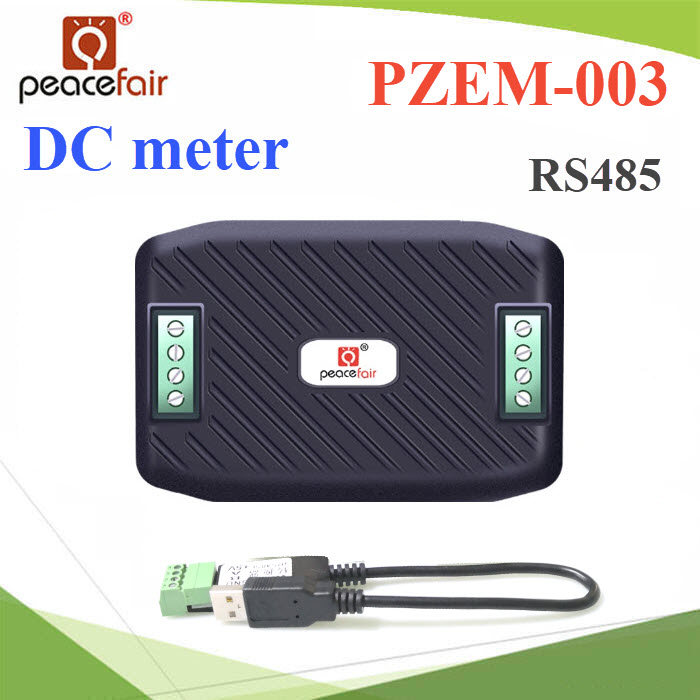 DC มิเตอร์ดิจิตอล 0-10A 0-300V โมดูล RS485 USB cablePZEM-003 0-300V 0-10A Voltage Kwh Meter DC Amp Volt Meter Ammeter RS485 Modbus With USB cable