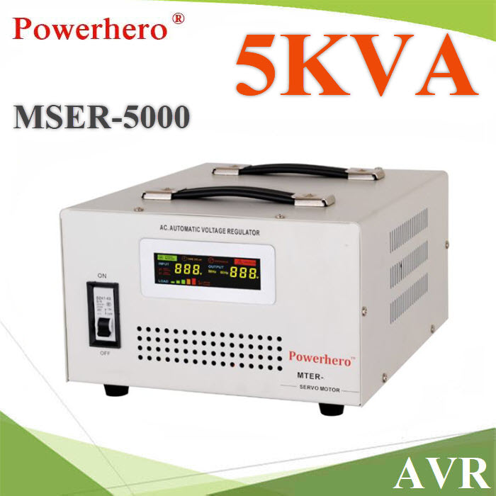 AVR Stabilizer à¤Ã×èͧ»ÃѺáç´Ñ¹ä¿¿éÒ áººÍѵâ¹ÁÑµÔ  á¡é»Ñ­ËÒáç´Ñ¹ä¿µ¡ ä¿à¡Ô¹  5KVAAVR 5000VA Automatic Voltage Regulator Stabilizer Single Phase with toroidal transformer