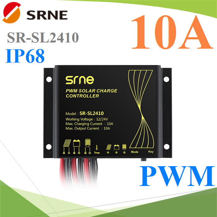 10A PWM solar charge controller with timing function