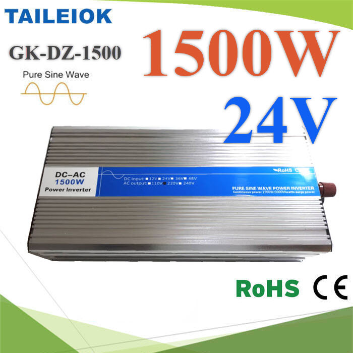 อินเวอร์เตอร์ 1500W Off-Grid Pure sine wave 24V DC to AC 220V1500W Pure Sine Wave Inverter 24V DC to AC 220V
