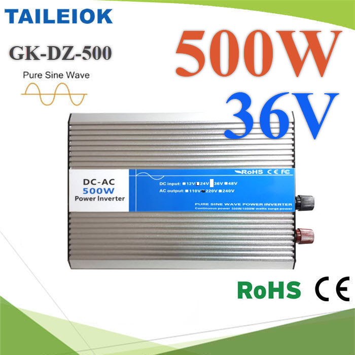 อินเวอร์เตอร์ 500W Off-Grid Pure sine wave 36V DC to AC 220V500W Pure Sine Wave Inverter 36V DC to AC 220V