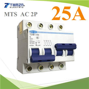 àºÃ¡à¡ÍÃìÊÇÔ·ªì 2 ·Ò§ MTS Ãкºä¿ AC MCB 50HZ 2P 25A2P 25A MTS Dual power switch Manual transfer switch Circuit breaker MCB 50HZ/60HZ 400~