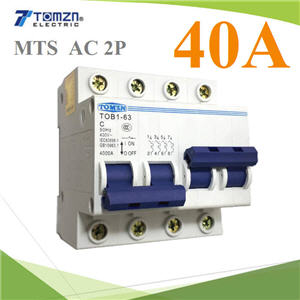 àºÃ¡à¡ÍÃìÊÇÔ·ªì 2 ·Ò§ MTS Ãкºä¿ AC MCB 50HZ 2P 40A2P 40A MTS Dual power switch Manual transfer switch Circuit breaker MCB