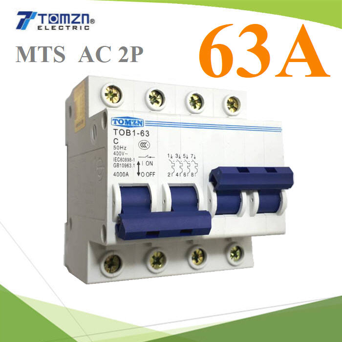 2P 63A MTS Dual power switch Manual transfer switch Circuit breaker MCB 50HZ/60HZ 400~