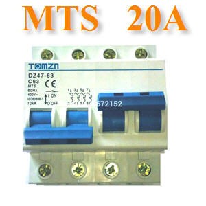 àºÃ¡à¡ÍÃìÊÇÔ·ªì 2 ·Ò§ MTS Ãкºä¿ AC MCB 50HZ 2P 20A2P 20A MTS Dual power switch Manual transfer switch Circuit breaker MCB 50HZ/60HZ 400~