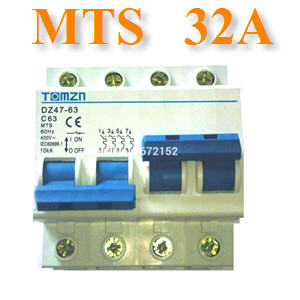 àºÃ¡à¡ÍÃìÊÇÔ·ªì 2 ·Ò§ MTS Ãкºä¿ AC MCB 50HZ 2P 32A2P 32A MTS Dual power switch Manual transfer switch Circuit breaker MCB 50HZ/60HZ 400~