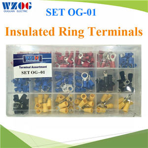 ¢é͵èÍÊÒÂä¿ SET OG-01 ËÒ§»ÅÒ¡ÅÁ ÁÕ©¹Ç¹ ºÃèءÅèͧ¾ÅÒʵԡ 490 ª×é¹Insulated Ring Terminals Assortment SET OG-01 total 490 pcs.
