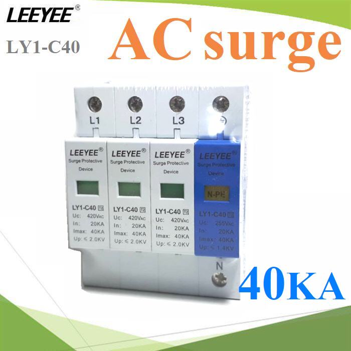 AC ÍØ»¡Ã³ì»éͧ¡Ñ¹¿éÒ¼èÒ ä¿¡ÃЪҡ 3phase 40kA L1 L2 L3 N-PE AC 40kA L1 L2 L3 N-PE three phase surge protection device