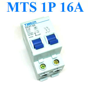 àºÃ¡à¡ÍÃìÊÇÔ·ªì 2 ·Ò§ MTS Ãкºä¿ AC MCB 1P 16A1P 16A AC MTS Dual power switch Manual transfer switch Circuit breaker