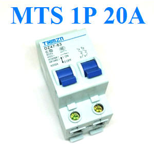 àºÃ¡à¡ÍÃìÊÇÔ·ªì 2 ·Ò§ MTS Ãкºä¿ AC MCB 50HZ 1P 20A1P 20A AC MTS Dual power switch Manual transfer switch Circuit breaker