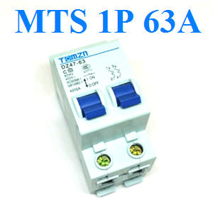 àºÃ¡à¡ÍÃìÊÇÔ·ªì 2 ·Ò§ MTS Ãкºä¿ AC MCB 50HZ 1P 63A1P 63A AC MTS Dual power switch Manual transfer switch Circuit breaker